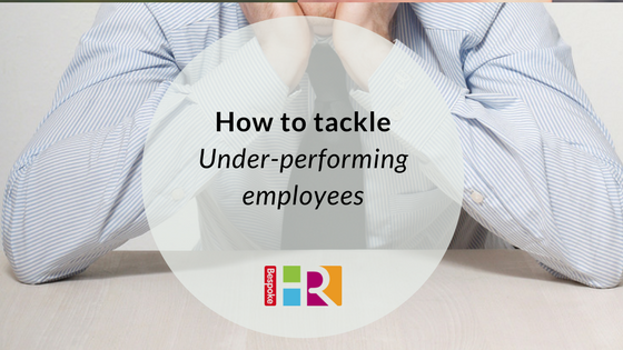 How to tackle under-performing employees