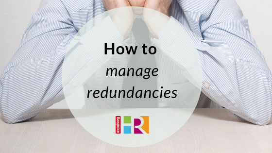 How to manage redundancies
