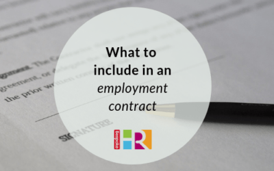 What to include in an employment contract