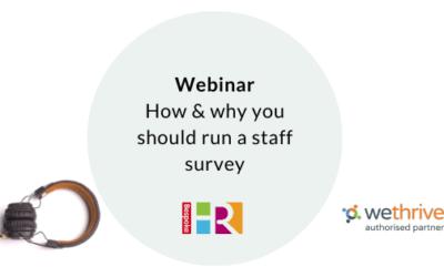 How & why you should run a staff survey – webinar