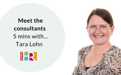 Meet the consultants: 5 mins with Tara Lohn