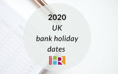 UK bank holidays 2020