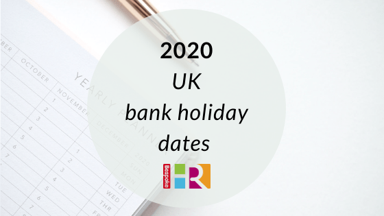 2020 bank holiday dates