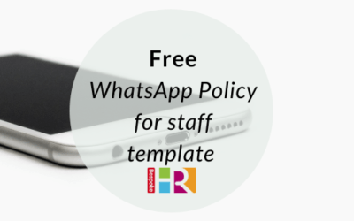 Free WhatsApp policy for staff template