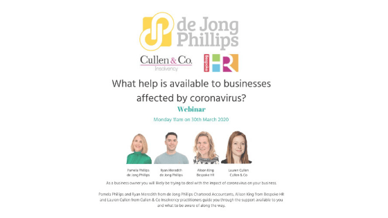Free webinar: What help is available to businesses affected by the coronavirus?