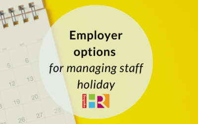 Employer options for managing staff holiday