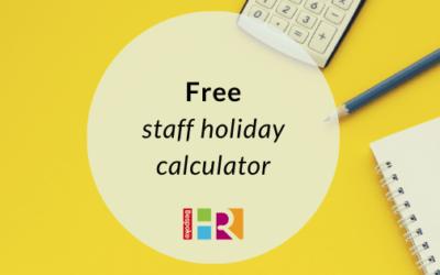 Free staff holiday calculator