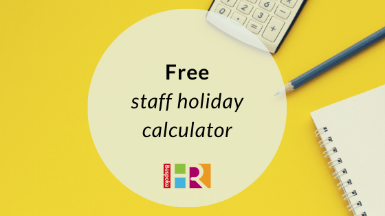 Free staff holiday calculator