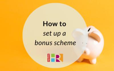 How to set up a bonus scheme