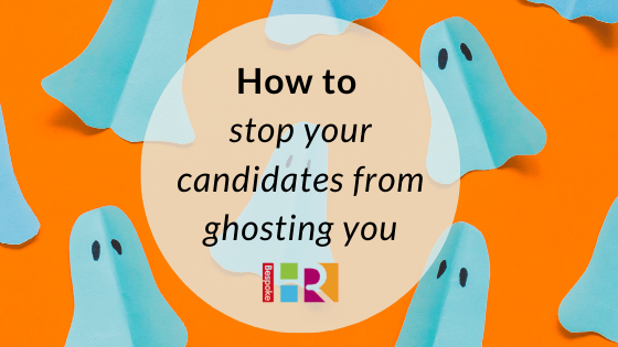 Blog header featuring images of ghosts for post about how to stop candidates from ghosting you